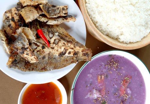 cá lù đù 1 nắng nướng ăn cơm trắng